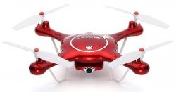 RC kvadrokoptéra Syma X5UW, FPV 1MP kamera WiFi, funkcia vznášania a plánovanie trás, červena