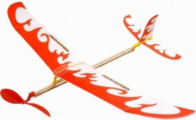 ZT Model Thunder Bird hádzadlo na gumový pohon červené
