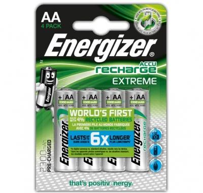 Nabíjacia batéria Energizer RECHARGE EXTREME – AA, 2300 mAh 4 ks