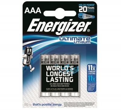 Lithiová batéria Energizer ULTIMATE LITHIUM AAA 1250mAh 1.5V, 4 ks
