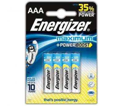 Alkalická batéria Energizer MAXIMUM AAA 1.5V, 4 ks