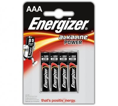 Alkalická batéria Energizer Alkaline POWER AAA, 4 ks