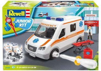 Plastový model na skladanie Revell Ambulance Junior Kit 1/20, 00806