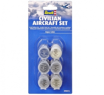 Revell Aqua Color Civilian Aircraft Set 6x5ml, 39072
