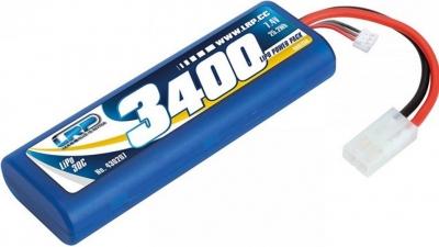 Akumulátor LiPo 7.4V 3400mAh 30C 2S1P LRP Stickpack Hardcase