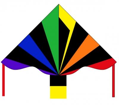 Šarkan Invento, Simple Flyer Black Rainbow R2F, jednolanový