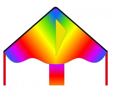 Šarkan Invento, Simple Flyer Radiant Rainbow R2F, jednolanový