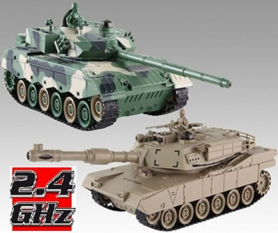 RC Súbojové tanky na diaľkové ovládanie, UF: Chinese 96 a American M1A2, 2.4GHz