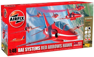 Plastikový model na lepenie Bae Systems Red Arrows Hawk giftset A50031, Airfix