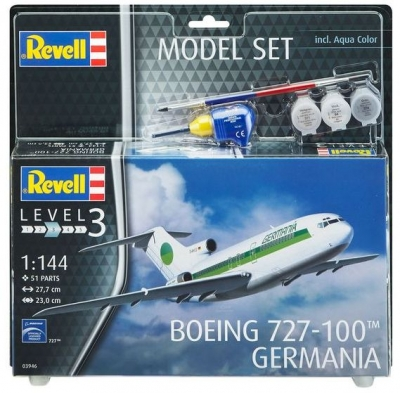Plastový model Revell Boeing 727-100 Germania Model Set 1/144, 63946