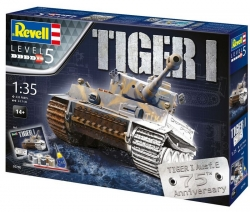 Plastový model Revell Pz.Kpfw. VI Tiger 75 Years Gift-set 1/35, 05790