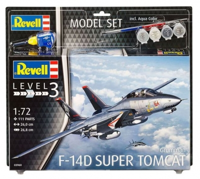 Plastový model Revell F-14D Super Tomcat Model Set 1/72, 63960