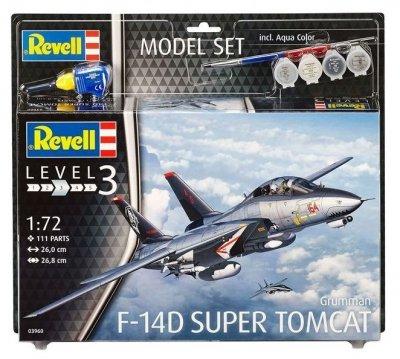 Plastový model Revell F-14D Super Tomcat Model Set 1/72, 63960