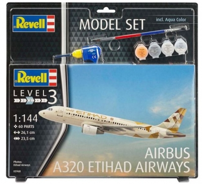 Plastový model Revell Airbus A320 Etihad Model Set 1/144, 63968