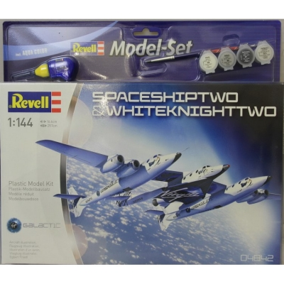 Plastový model Revell SpaceShipTwo & WhiteKnightTwo Model Set 1/144, 64842