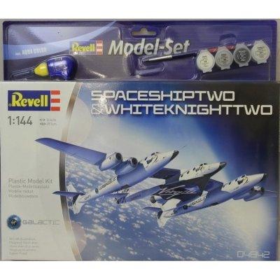 Plastový model Revell SpaceShipTwo & WhiteKnightTwo Model Set 1/144, 64842
