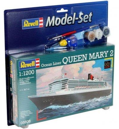 Plastový model Revell Queen Mary 2 modelset 1/1200, 65808