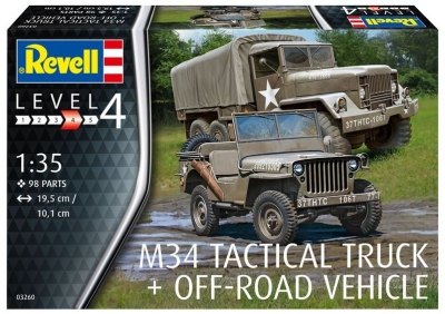 Plastikový model Revell M34 Tactical Truck & Off Road Vehicle 1/35, 03260