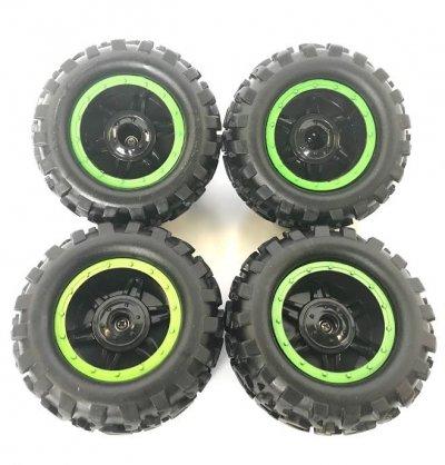 Náhradné Diely Crawler King NQD, Kolesa zelené, sada 4ks