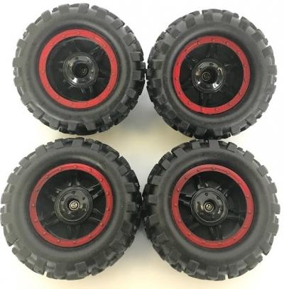 Náhradné Diely Crawler King NQD, Kolesa červené, sada 4ks