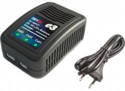 Nabíjač s balancérom SkyRC e3 AC pre LiPo / LiFe 2-3S  batérie