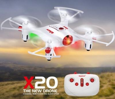 RC dron na ovládanie Syma X20, 2.4GHz, auto-start, funkcia zavesenia, bielý