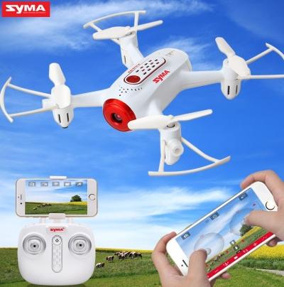 RC dron Syma X22W, FPV WiFi kamera, 2.4GHz, auto-start, funkcia zavesenia, biely