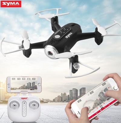 RC dron Syma X22W, FPV WiFi kamera, 2.4GHz, auto-start, funkcia zavesenia, čierny
