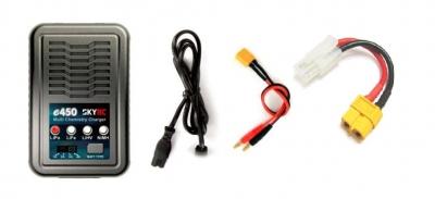 Nabíjač s balancérom SkyRC e450 4A 50W LiPo/LiFe/LiHV 4S, NiMH 8S 4A 230V