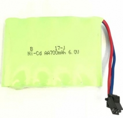 Náhradná batéria, Akumulator 700mAh 6V Ni-Cd, SM