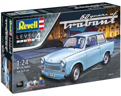 Plastový model Revell Trabant 601S 60 Years of Trabant Gift Set 1/24, 07777