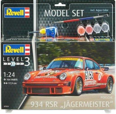 Plastový model Revell Porsche 934 RSR Jägermeister Model Set 1/24, 67031