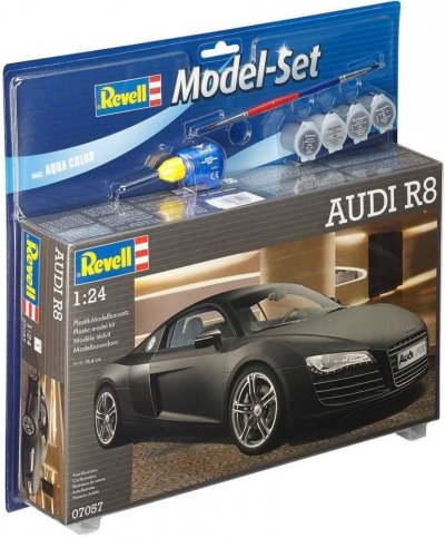 Plastový model Revell Audi R8 (black) Model Set 1/24, 67057
