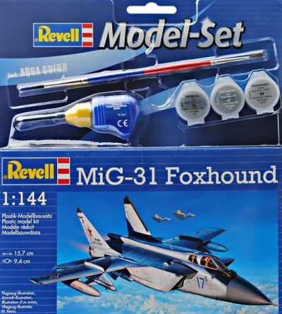 Plastový model Revell MiG-31 Foxhound Model Set 1/144, 64086