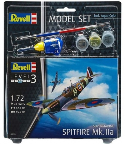 Plastový model Revell Spitfire Mk. IIa Model Set 1/72, 63953