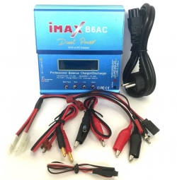Inteligentná nabíjačka s balancérom Imax B6AC 80W s napájacím zdrojom + adaptéry