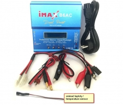 Inteligentná nabíjačka s balancérom Imax B6AC 80W s napájacím zdrojom + adaptéry a snímač teploty