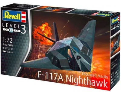 Plastikový model Lockheed Martin F-117A Nighthawk Stealth Fighter, Revell 03899