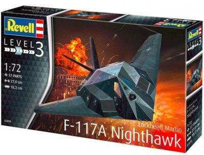 Plastikový model Lockheed Martin F-117A Nighthawk Stealth Fighter, Revell 03899