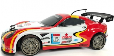 RC auto NQD 4WD Drift Car 4WD11 1:10, 4x4, červeno bielé