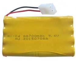 Batéria NiCd 700mAh 9.6V Tamiya NQD Land Buster