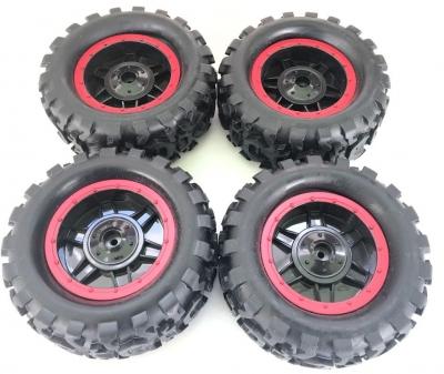 Náhradný diel HB: ROCK CRAWLER 4WD 1:14, kolesa červené 4ks