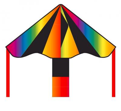 Šarkan Invento, Ecoline: Simple Flyer Black Rainbow 85 cm, jednolanový 102136