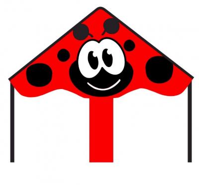 Šarkan Invento, Ecoline: Simple Flyer Ladybug 85 cm, jednolanový