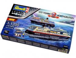 Plastový model Revell 125 Years Hurtigruten TROLLFJORD & MIDNATSOL Gift Set 1/1200, 05692