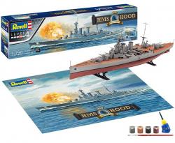 Plastikový model na lepenie Revell 100 Years HMS Hood Gift-set 1/720, 05693