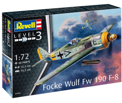 Plastikový model na lepenie Revell Focke Wulf Fw190 F-8, model set 1:72, 63898