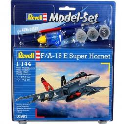 Plastikový model na lepenie Revell F/A-18E Super Hornet Model Set 1/144, 63997
