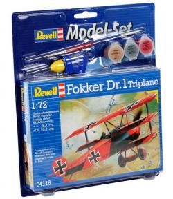 Plastový model Revell Fokker Dr.1 Triplane ModelSet 1/72, 64116