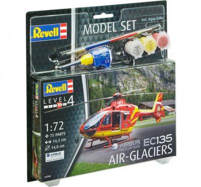 Plastový model Eurocopter EC135 Air Glaciers Model Set 1/72, 64986
